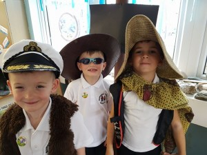 Sailing away on the class ship!